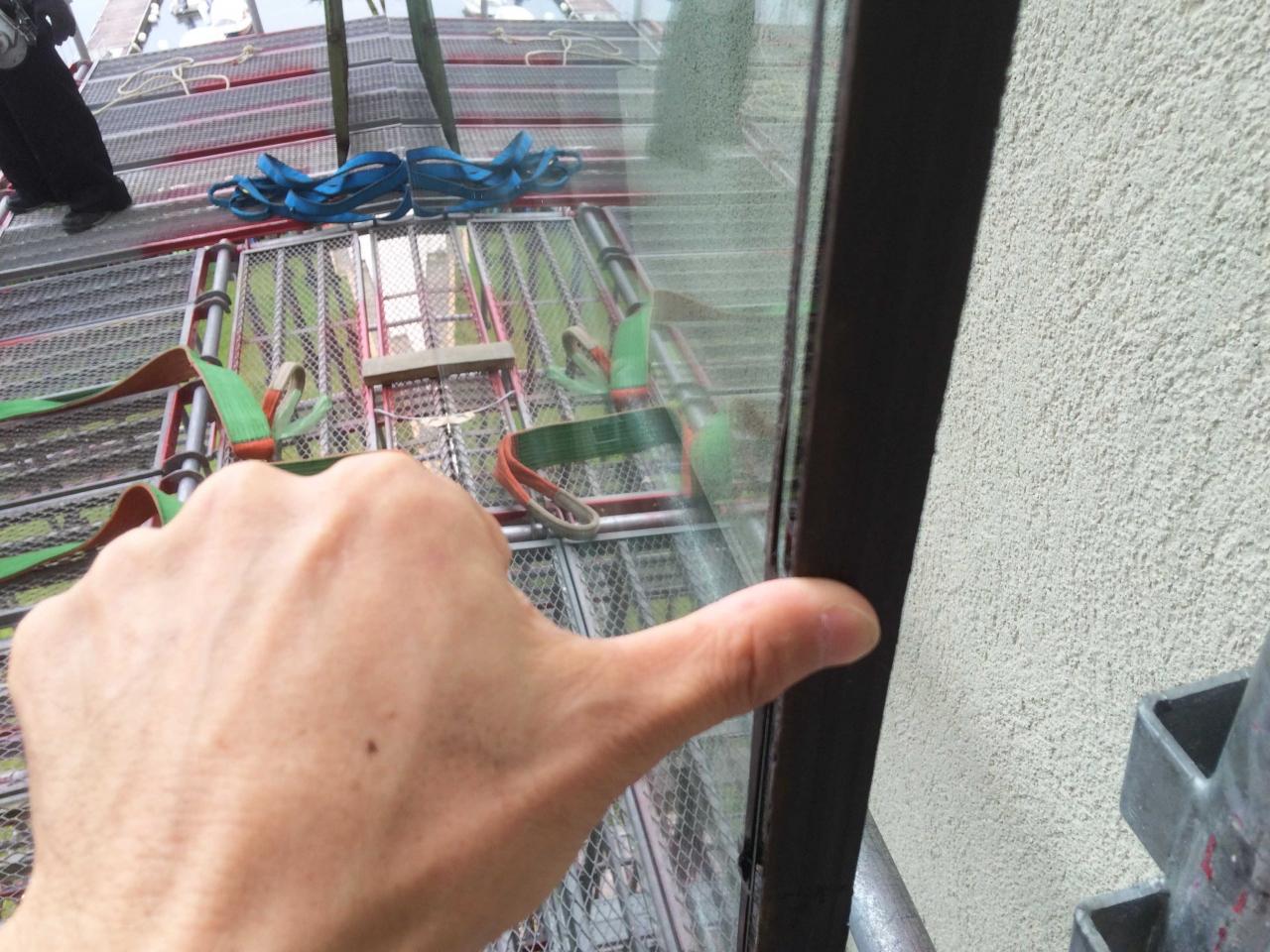 ガラス交換 空中編
