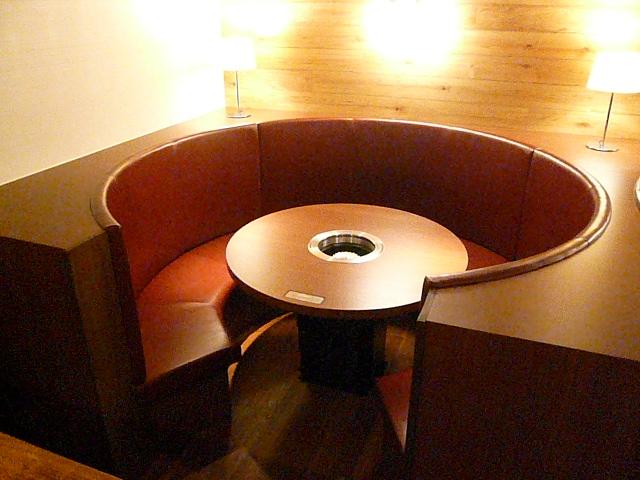 円形ベンチ